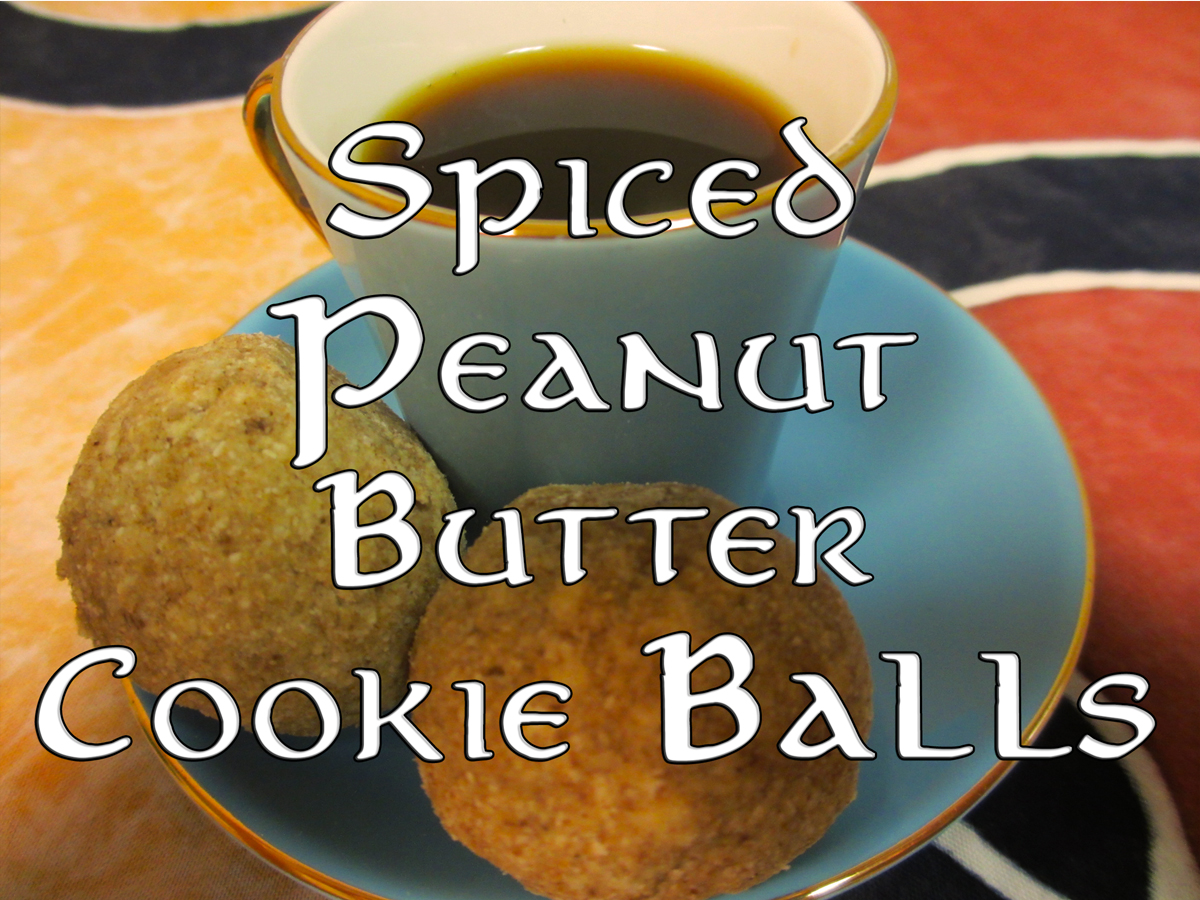 Spiced peanut butter cookie balls vegan low carb ketogenic