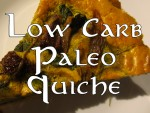 Low carb ketogenic paleo quiche