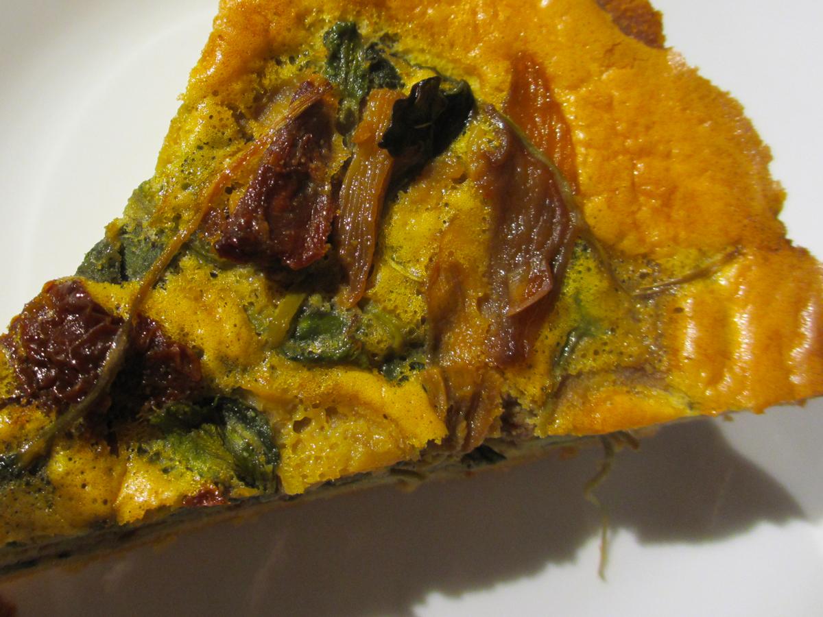 Low carb paleo quiche slice top