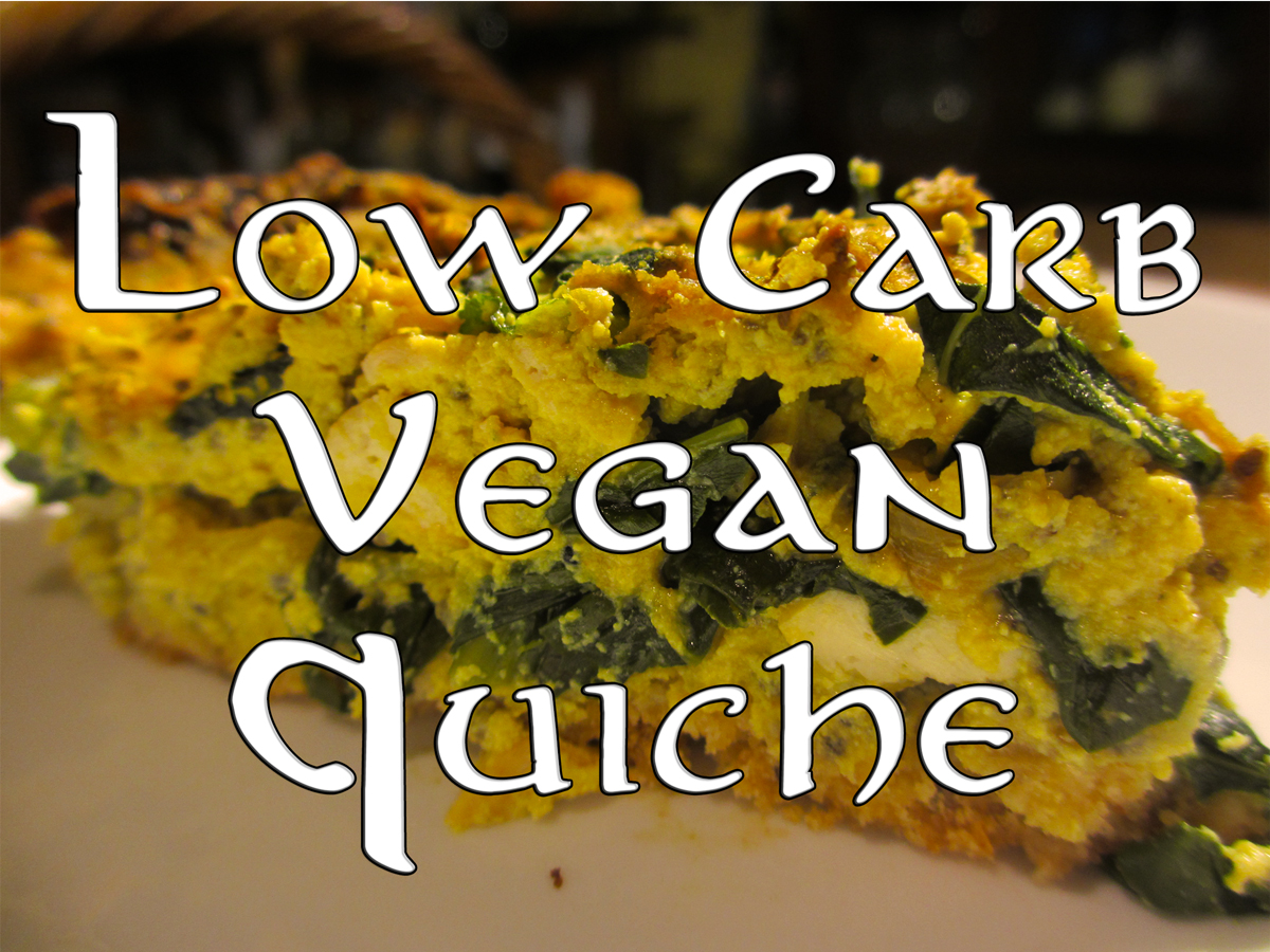 Low carb vegan quiche