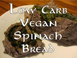 Low carb vegan spinach bread rolls